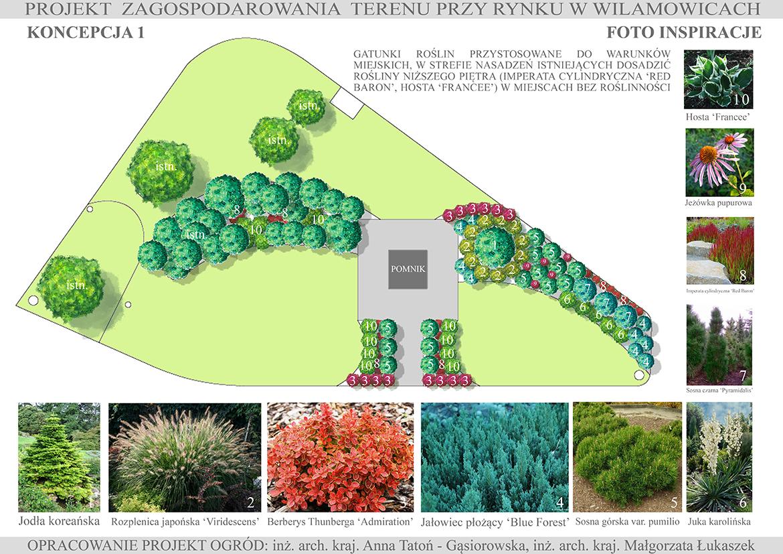 Projekt zagospodarowania terenu przy rynku w Wilamowicach